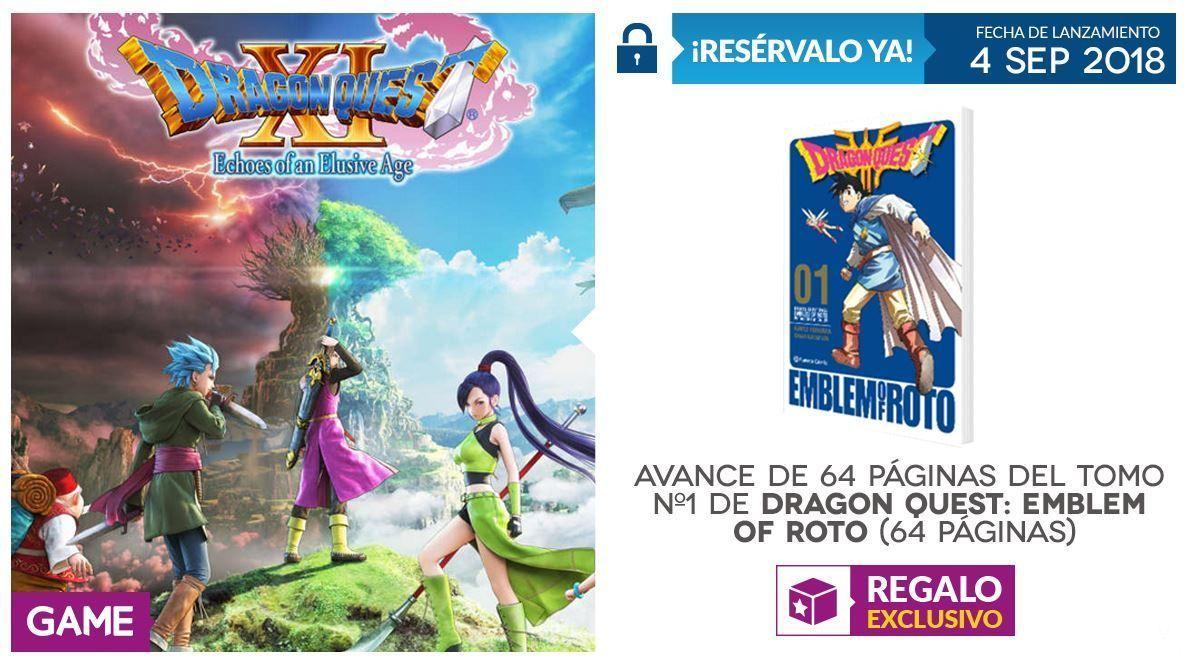 GAME detalla su incentivo por reserva para Dragon Quest XI