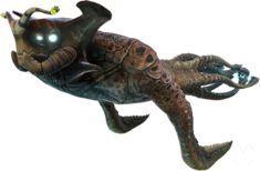 Subnautica, Monstruos, Criaturas, Animales, Peces, Carnívoros, Emperador Marino Leviatán