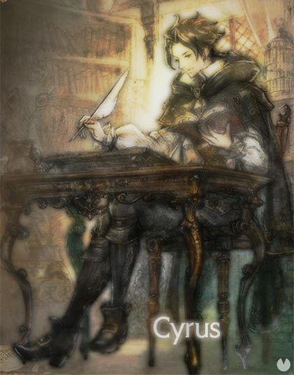 Octopath Traveler, OT, Octopath, Personajes, Cyrus