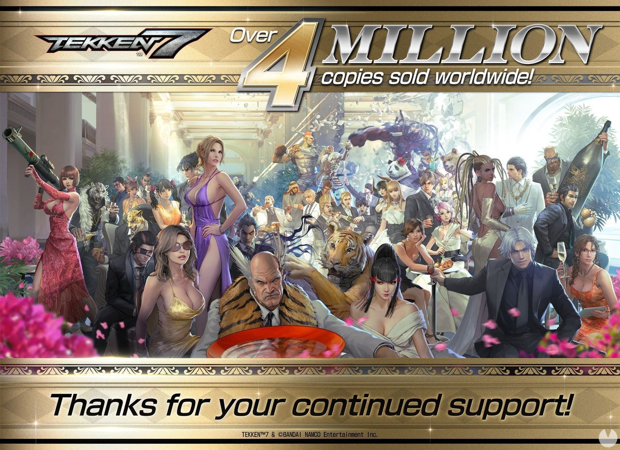 Tekken 7 exceeds 4 million copies sold