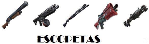 Fortnite - Armas: Escopetas