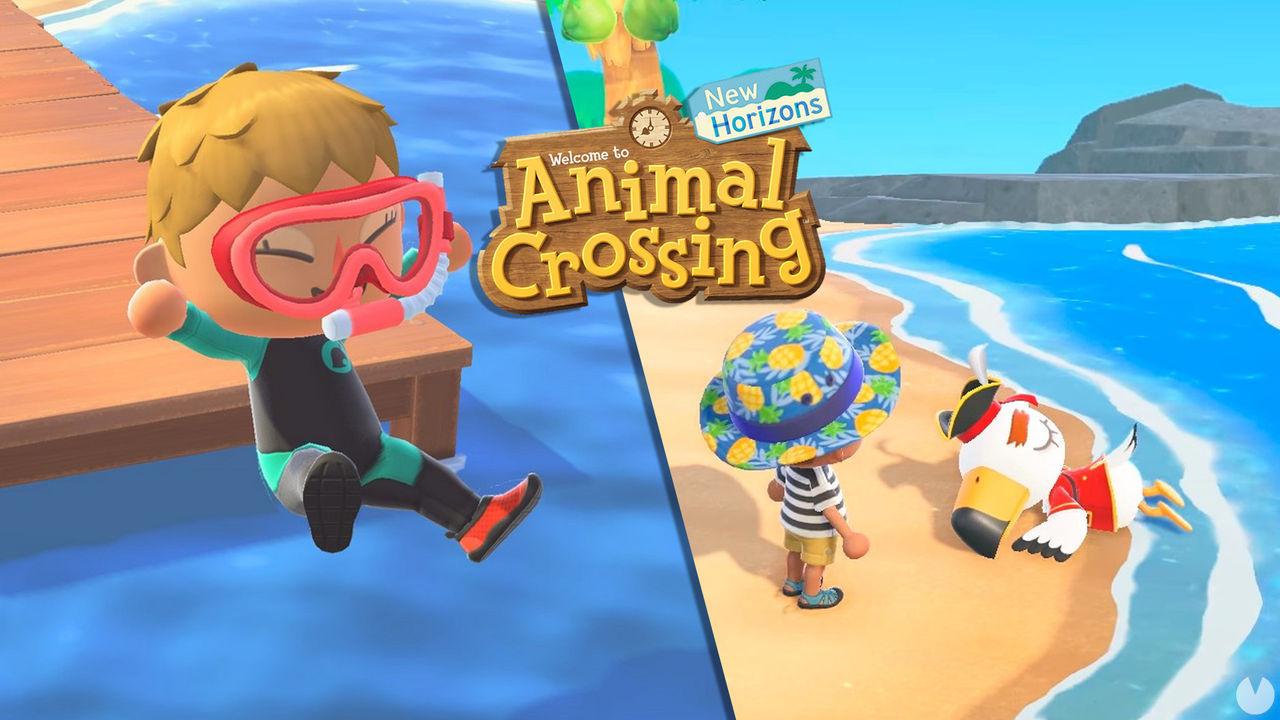 Animal Crossing NH: Ya se puede nadar y bucear con la actualización 1.3.0 de verano