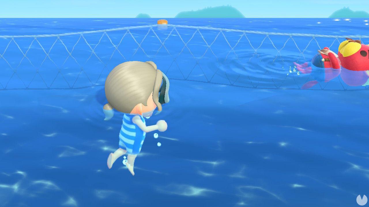 Animal Crossing NH: mecánicas de nadar y bucear