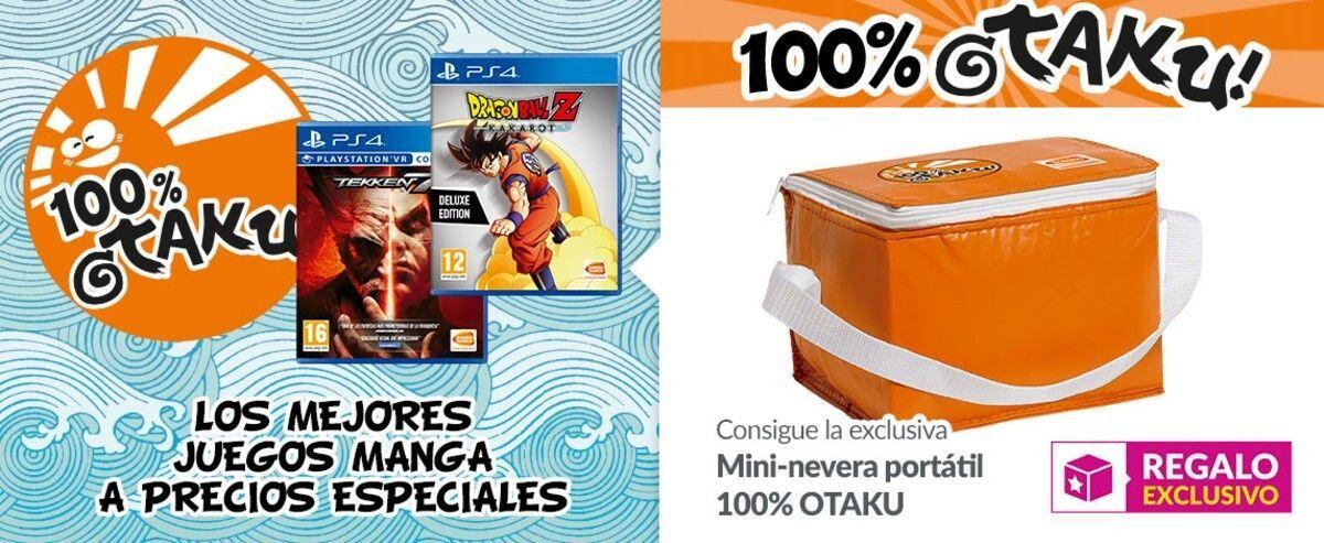 GAME presenta 100% Otaku: Grandes rebajas en juegos de Bandai Namco con nevera de regalo