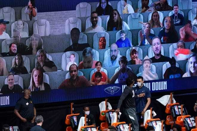 NBA full their stadiums empty with a chilling virtual public