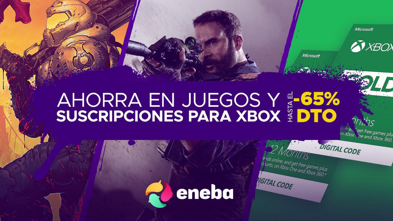 Más de 400 juegos y tarjetas para Xbox de oferta en Eneba.com