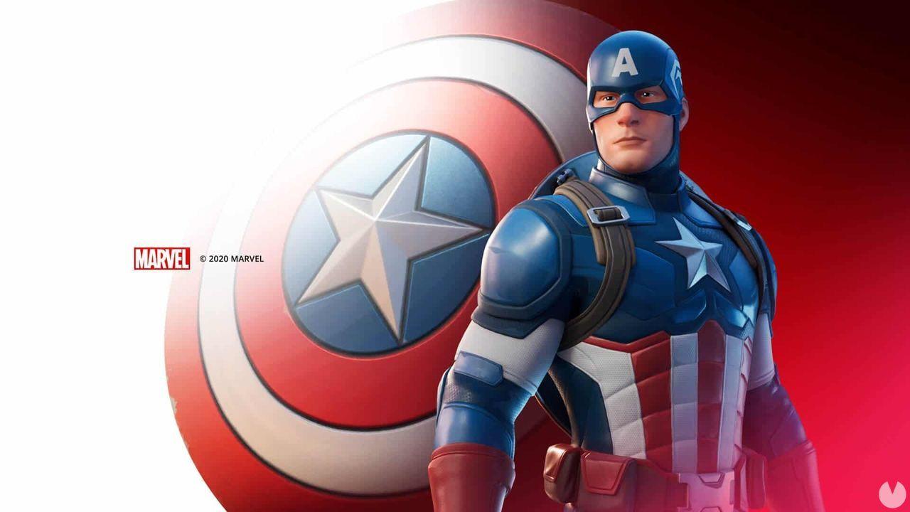Capitán América en Fortnite - Detalles de su skin