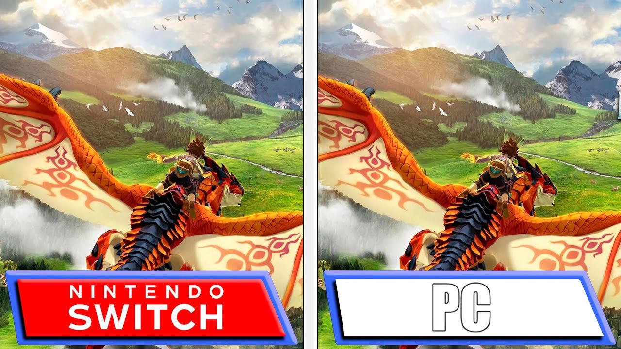 Monster Hunter Stories 2: Comparan la versión de Nintendo Switch con la de PC