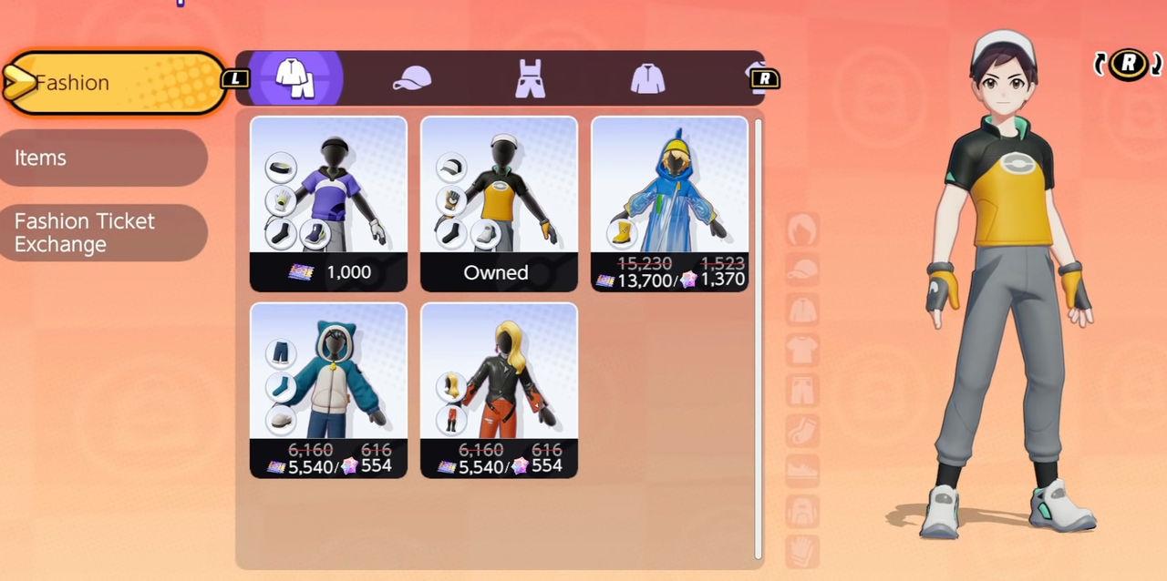 Objetos cosméticos en Pokémon Unite y sus precios