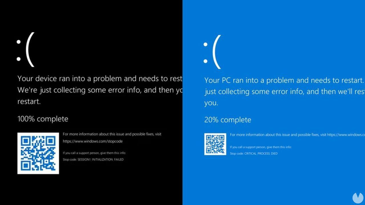 Windows 11: la mítica pantalla de la muerte también volverá, pero en negro