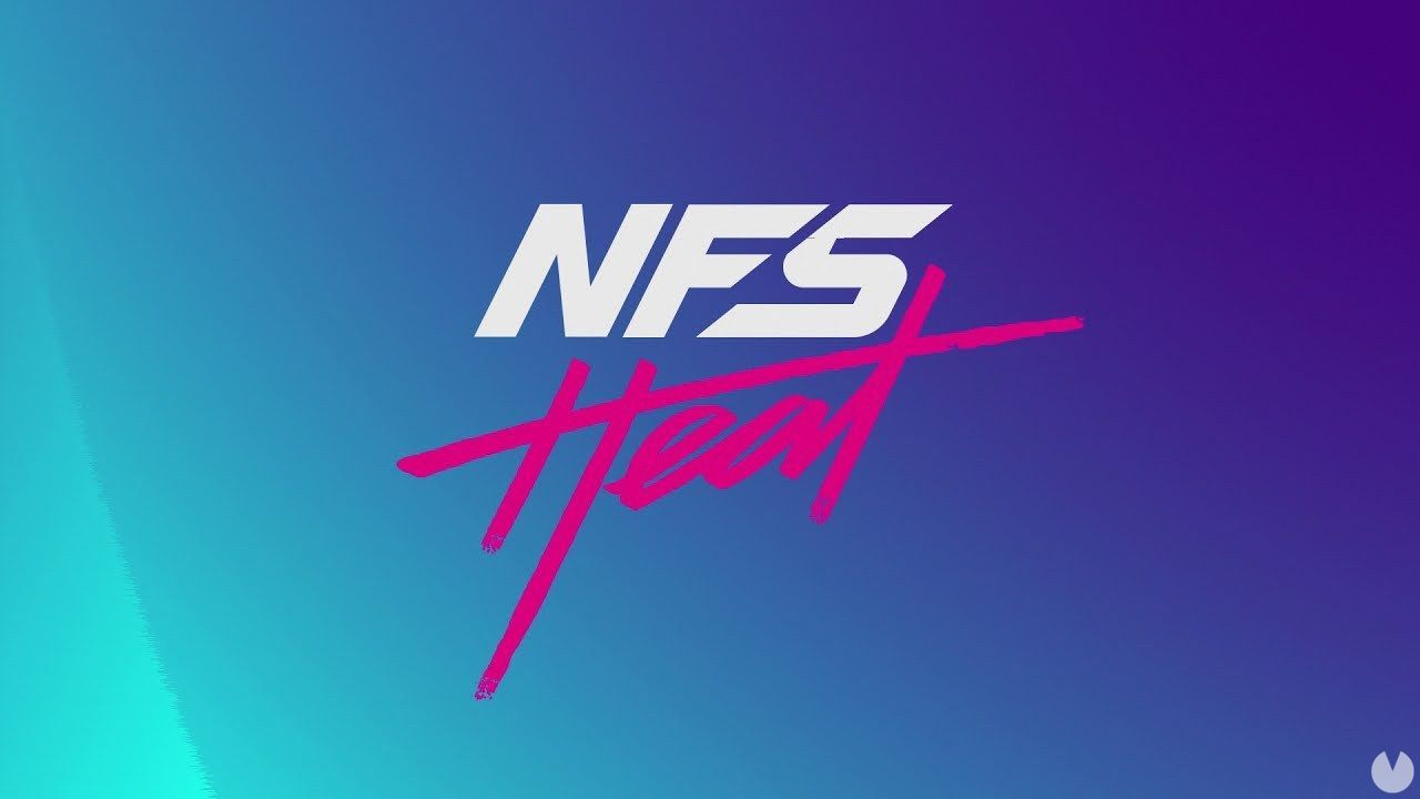filters on the logo and the first images of Need for Speed Heat