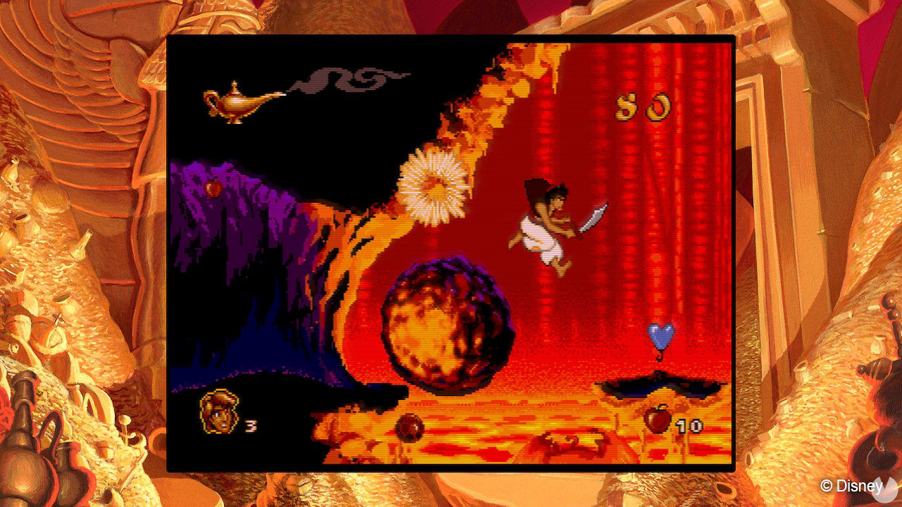 Classic Disney Games: Aladdin and The Lion King shows the Final Cut of Aladdin