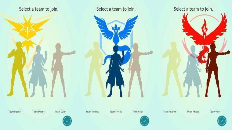 Elegir equipo en Pokémon GO