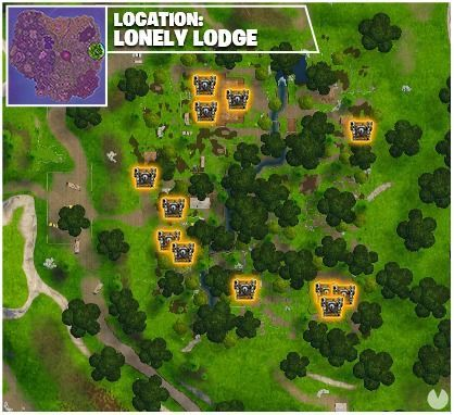 Fortnite, Fortnite Battle Royale, Fornite, Desafíos, Challenges, Temporada 5, Season 5, Semana 6, Week 6, Registra cofres en Soto Solitario, Cofres, Soto solitario, Chests