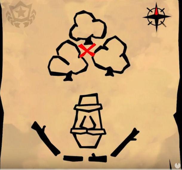 Fortnite: mapa del tesoro escondido en Socavón Soterrado