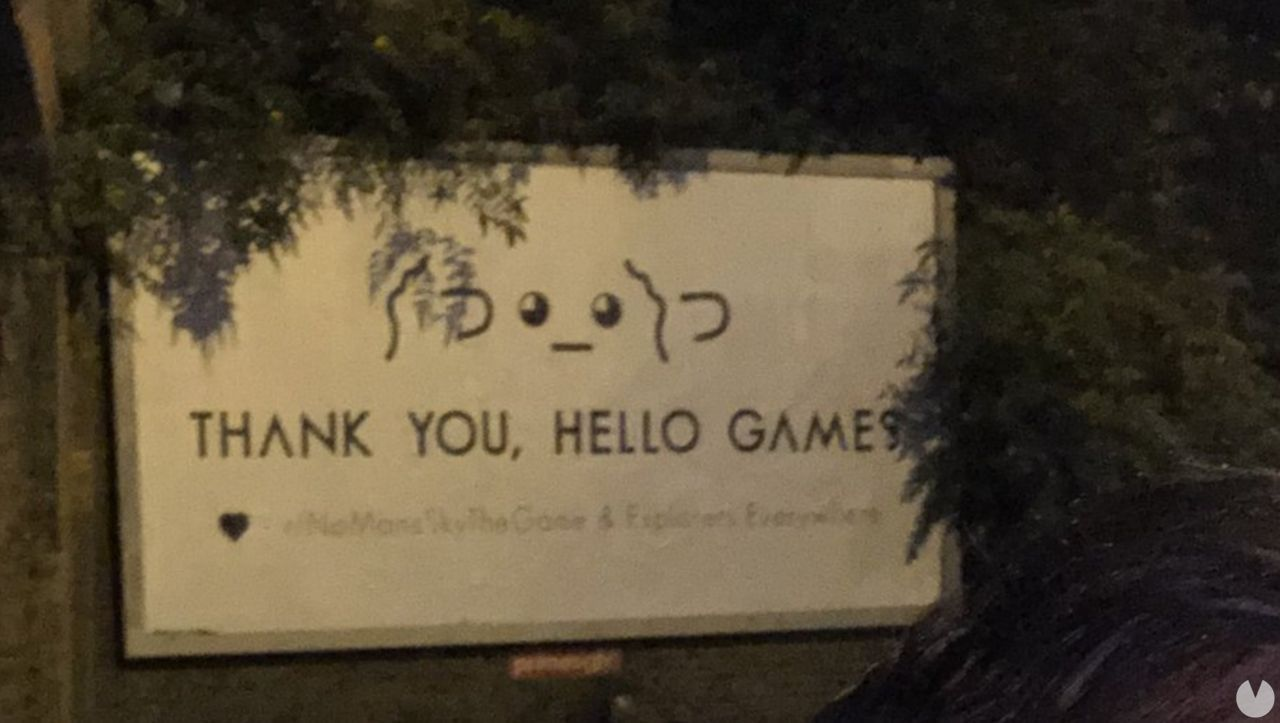 billboard to support Hello Games is already in front of the headquarters of the study