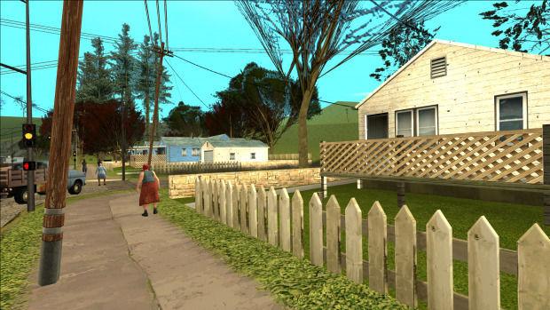 GTA San Andreas AI Remaster mod