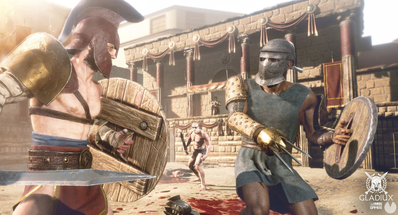 Gladiux, a combat game set in Ancient Rome, shown in pictures