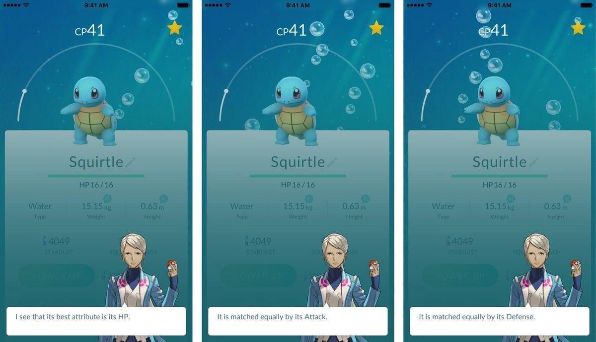 Valorar Pokémon en Pokémon GO