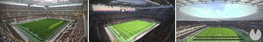 estadios italianos PES 2018