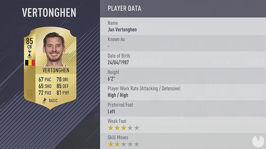 Vertonghen FIFA 18