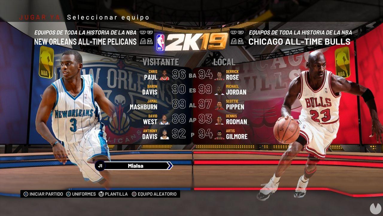 Todos los equipos, jugadores y valoraciones de NBA 2K19