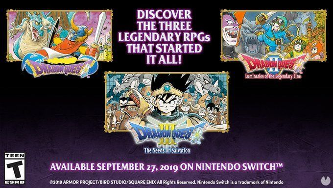 Dragon Quest I, II, and III will Nintendo Switch in Europe on the 27th of September