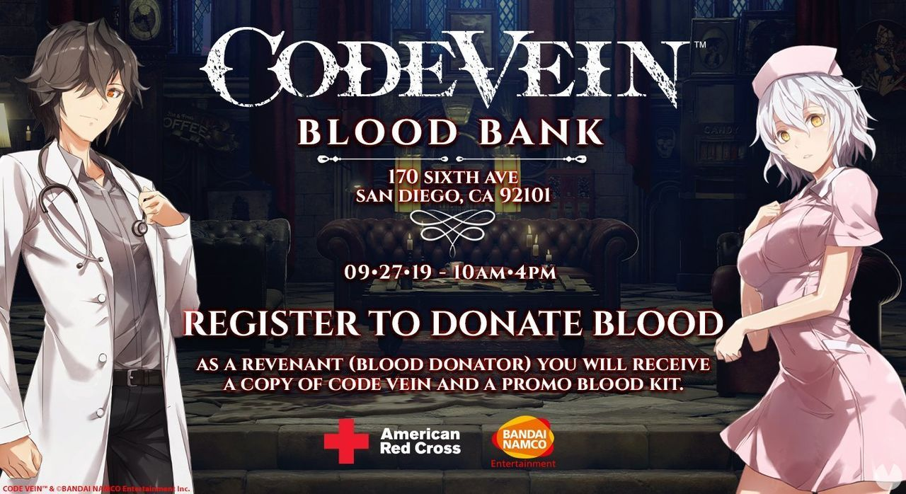 Code Vein will give away a copy of the game if we donate our blood
