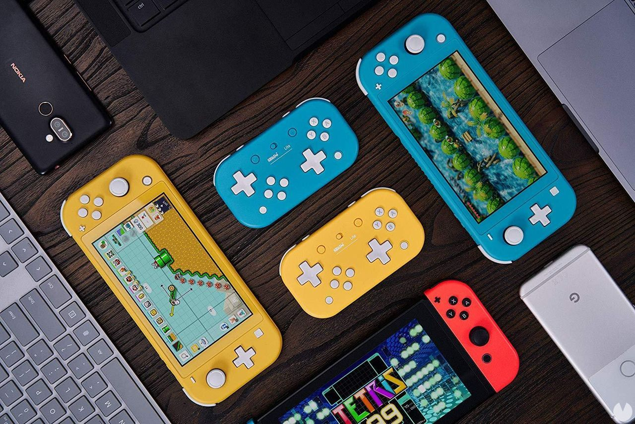 Kündigte die fernbedienung kompakte 8BitDo Lite gedacht für 2D spiele und Nintendo Switch Lite