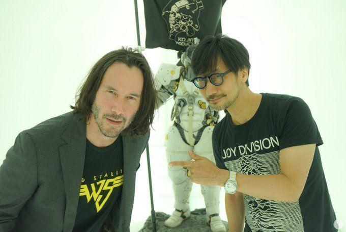 Keanu Reeves visita el estudio de Hideo Kojima