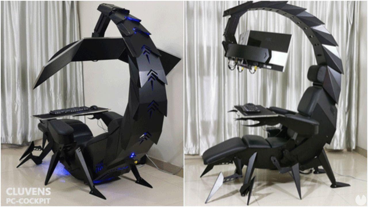 Así es Cluvens Scorpion, una estación gaming de 2800 euros que se mueve y se transforma