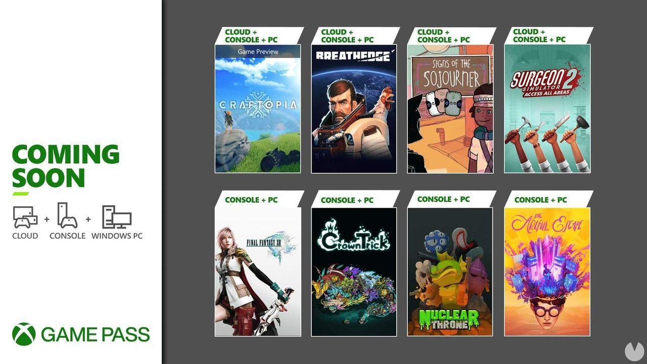 Final Fantasy 13 y The Artful Escape entre los juegos de septiembre de Xbox Game Pass