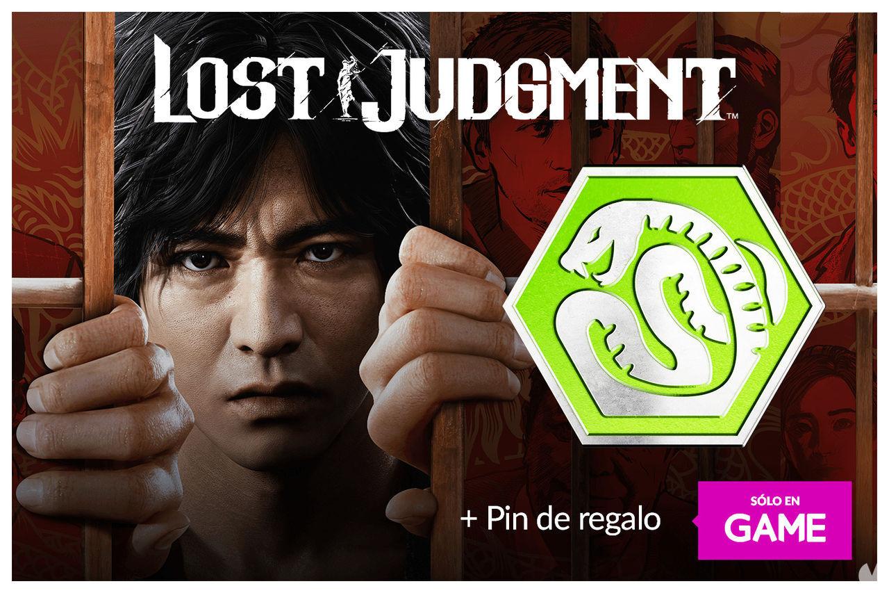 Pin exclusivo al reservar Lost Judgment en GAME.