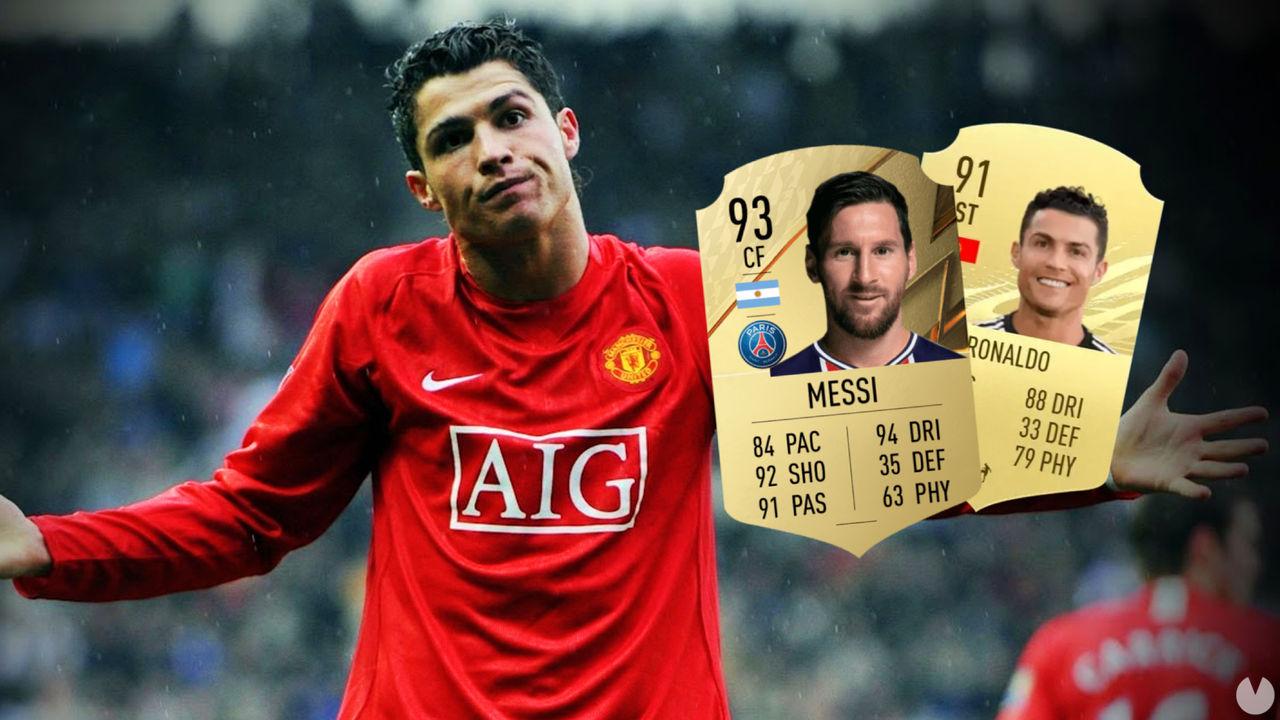 FIFA 22 baja un punto la media de Cristiano Ronaldo en un top liderado por Messi