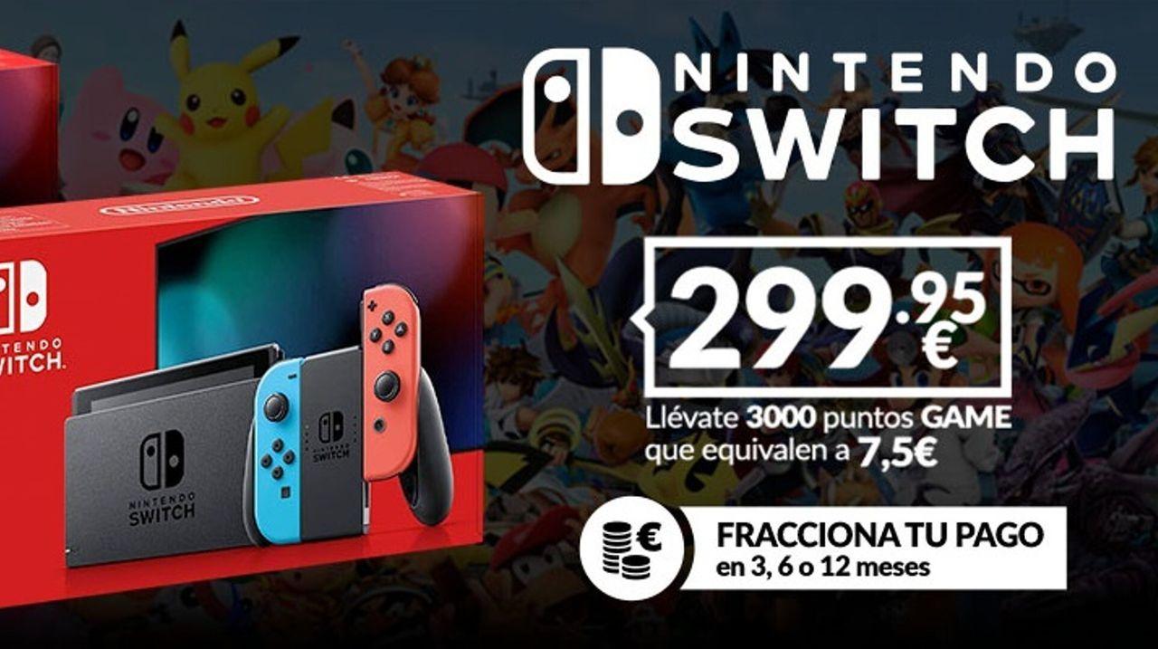 GAME España también rebaja el precio de Switch y sus packs de manera definitiva