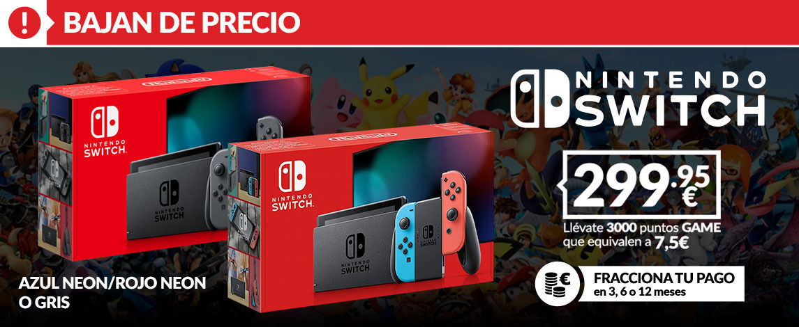 Nintendo Switch rebaja su precio en GAME