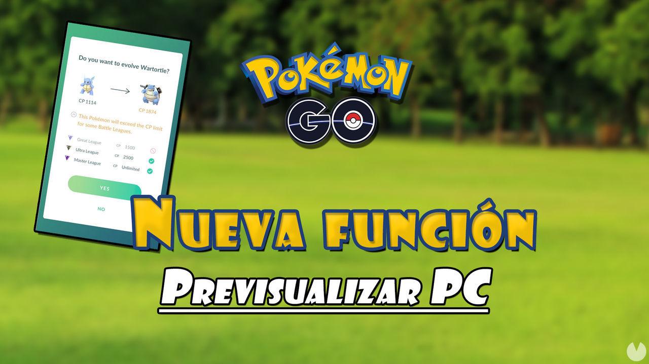 Pokémon GO ya permite previsualizar los PC que alcanzará un Pokémon al evolucionarlo