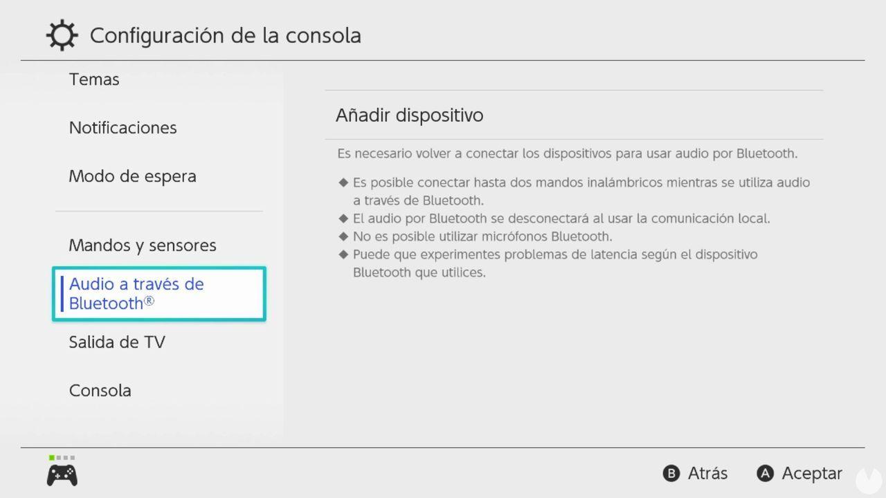 Nintendo Switch actualización firmware