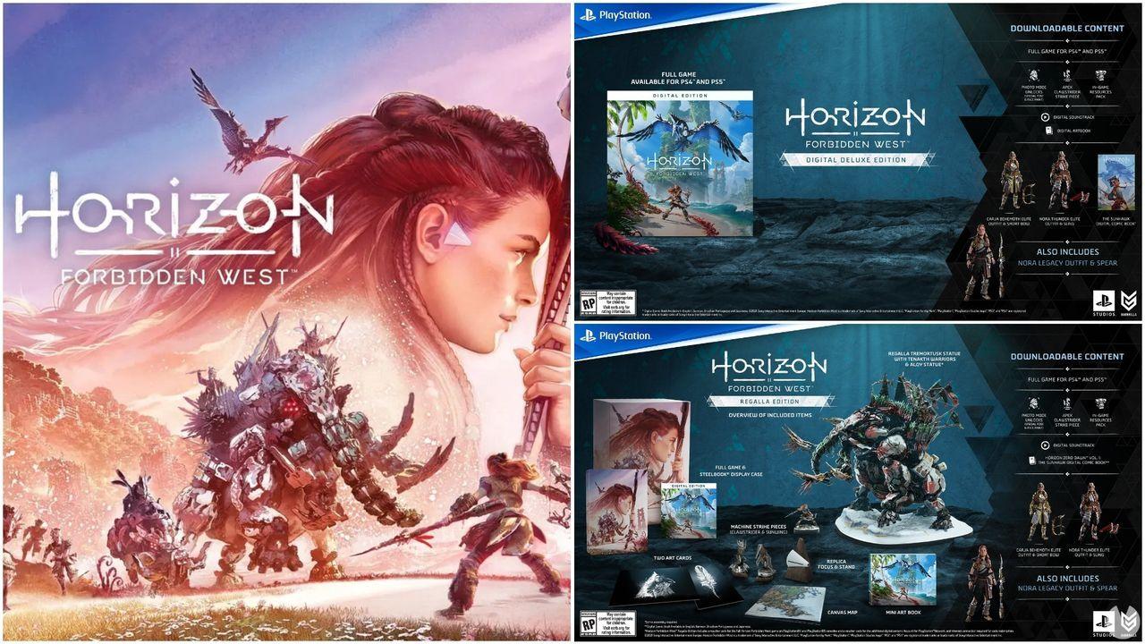 Horizon Forbidden West presenta sus ediciones especiales y abre reservas en PS4 y PS5