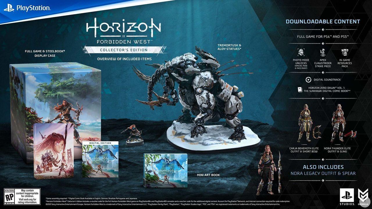 Collector's Edition de Horizon Forbidden West.