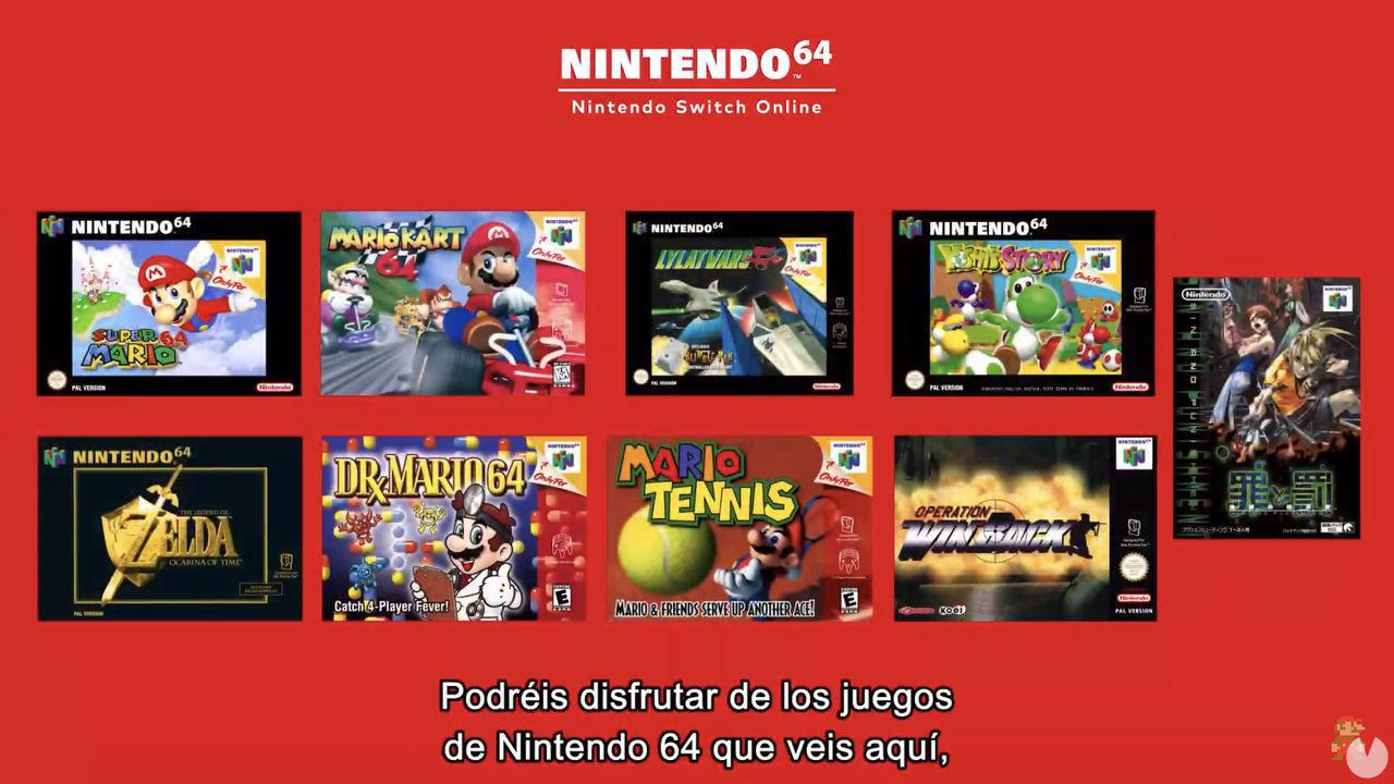 Juegos de Nintendo 64 en Nintendo Switch Online.