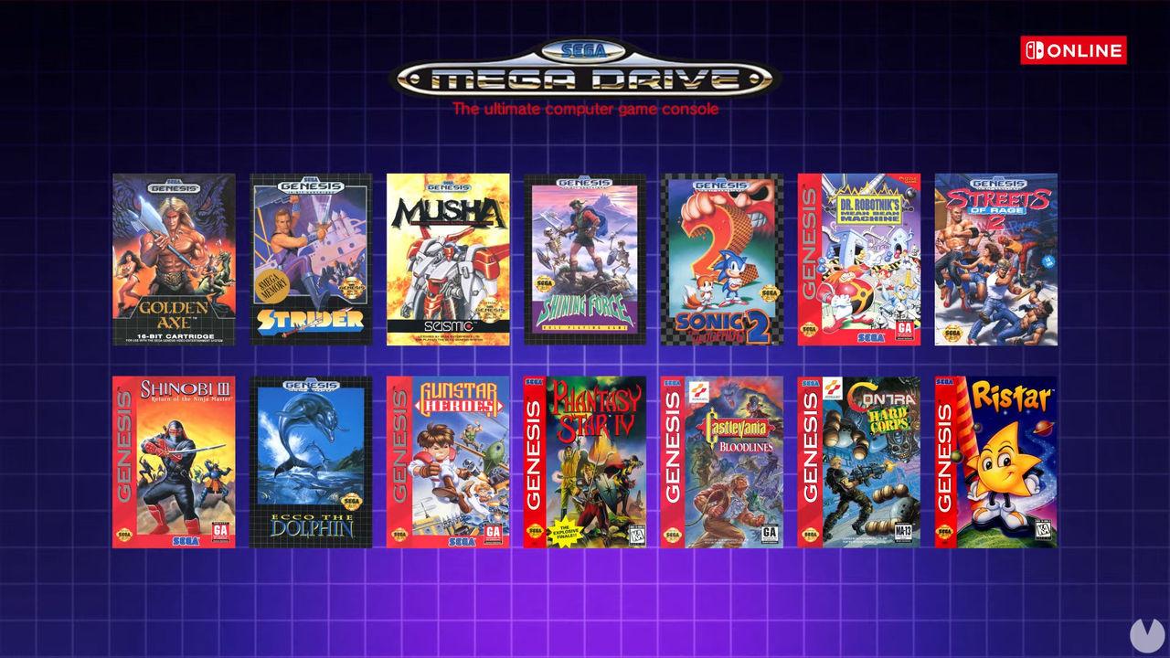 Juegos de SEGA Mega Drive en Nintendo Switch Online.