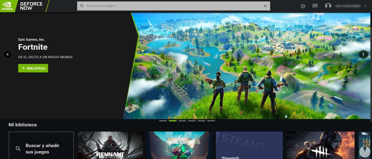 Captura de GeForce Now.