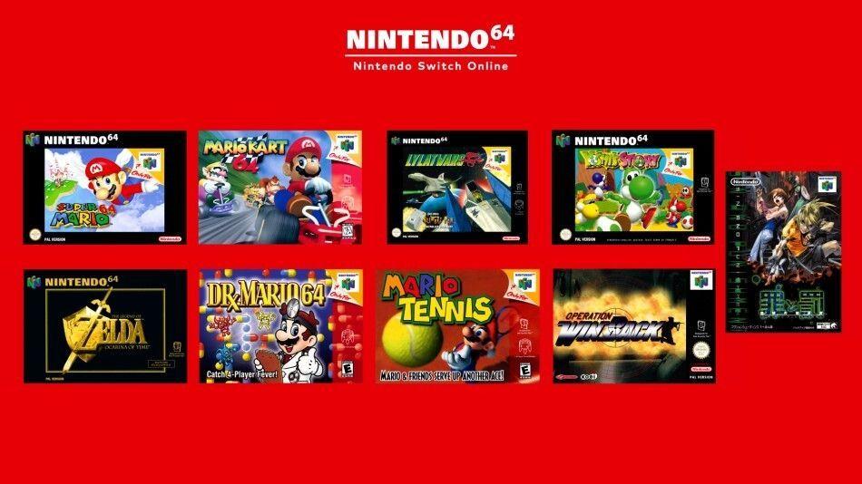Juegos de Nintendo 64 en Switch Online
