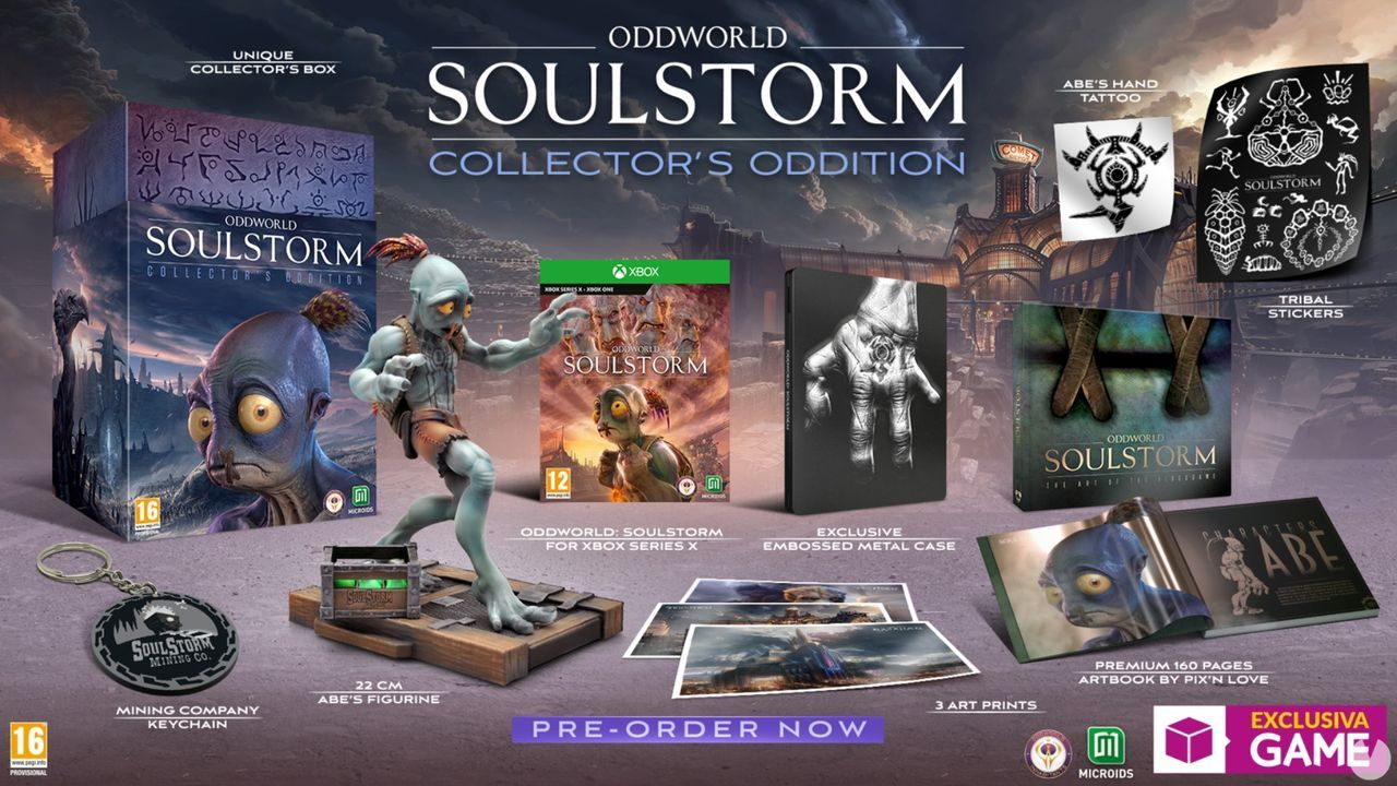 La edición coleccionista de Oddworld: Soulstorm para Xbox ya se puede reservar en GAME