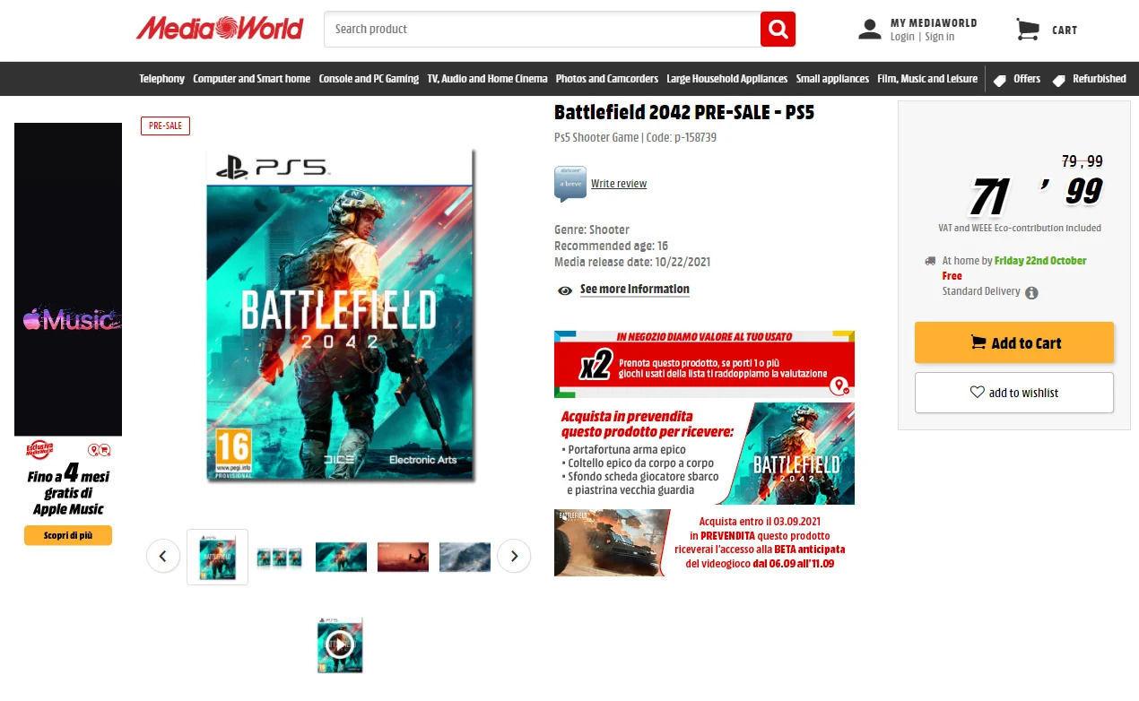 La posible beta abierta de Battlefield 2042
