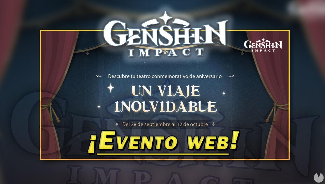 Genshin Impact: Gana Protogemas participando en el evento web Un viaje inolvidable