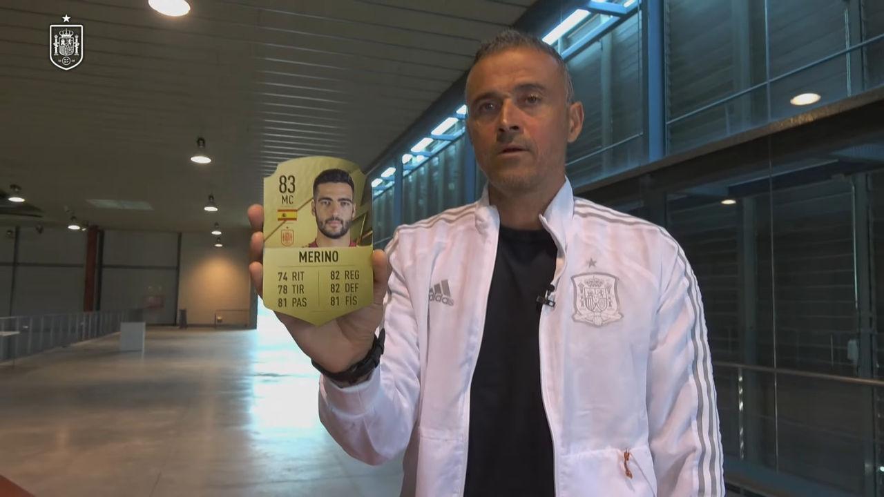 Luis Enrique realiza la convocatoria de la selección española con fichas de FIFA 22