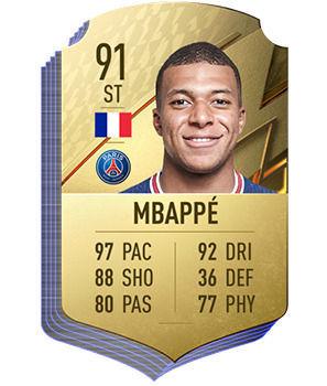 FIFA 22 - Les meilleurs joueurs de Ligue 1 Kylian Mbapp