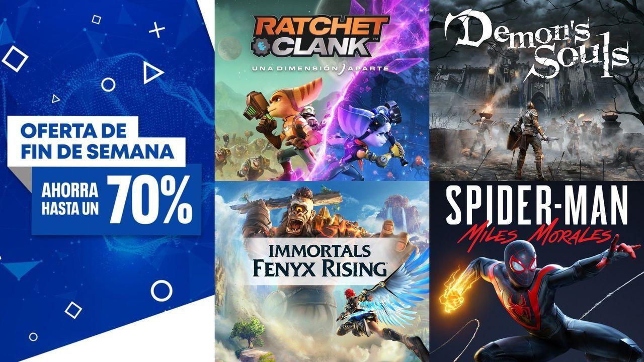 Ofertas del fin de semana en PS Store: Demon's Souls, Miles Morales, Ratchet & Clank PS5...